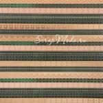 Бумага Крафт с фольгированием Вязаные узоры, размер 20х20см, 180 г/м, АртУзор, BU001866