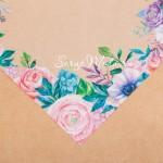 Ацетатный лист Весенний сад, размер 20х20см, 300 г/м, АртУзор, BU001873