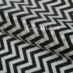 Бумага тишью Зигзаги, черные, размер 50х66см, BU001883