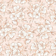 Лист веллума Auburn Lane Specialty Vellum W/Copper Foil, 30х30 мм, Pink Paislee, BU001885