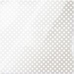 Ацетатный лист White Dot, 30,5x30,5 см., прозрачный лист с белыми кругами, American Crafts, BU001886