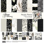 Набор бумаги коллекции Always&Forever, размер 30х30 см., Simple Stories, YA000047