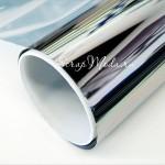 Виниловая пленка Серебро, металлизированная, размер 25x25 мм.,  Идеально подходит для плоттеров. BU001888
