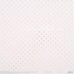 Бумага односторонняя с фольгированием, жемчужная Нежность, горох, размер 30,5 х 30,5 см, 250 г/м, АртУзор, BU001896