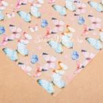 Ацетатный лист Весенние бабочки, размер 30х30см, 300 г/м, АртУзор, BU001905