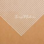 Ацетатный лист Полосы Gold, ширина золотой полоски 3 мм., размер 30х30см, 300 г/м, АртУзор, BU001909