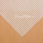 Ацетатный лист Полоски Silver, ширина серебряной полоски 3 мм.,размер 30х30см, 300 г/м, АртУзор, BU001910