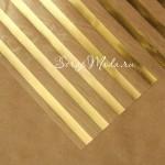 Ацетатный лист Золотые полосы, размер 20х20см, 300 г/м, АртУзор, BU001921