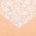 Ацетатный лист Снежинки, нанесение молочного цвета, размер 20х20см, 300 г/м, АртУзор, BU001922