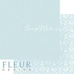 Лист бумаги двусторонний Нежный Тиффани, коллекция Шебби Шик Базовая 2.0, 30х30, плотность 190 гр, BU001928