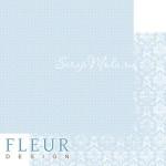 Лист бумаги двусторонний Небесный голубой, коллекция Шебби Шик Базовая 2.0, 30х30, плотность 190 гр, BU001929
