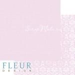 Лист бумаги двусторонний Нежный розовый, коллекция Шебби Шик Базовая 2.0, 30х30, плотность 190 гр, BU001930