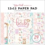 Набор двусторонней бумаги Hello Baby Girl, размер 30х30 см., Echo Park Paper, BU001990