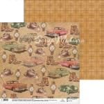 Бумага двусторонняя Ретро, размер 30,5х32 см, 180 г/м, Арт Узор, BU001996