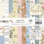 Набор бумаги Цветочные сны - 12 односторонних листов 305х305мм, Mona Design, BU002003