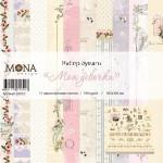 """Набор бумаги """"Моя девочка"""" - 11 односторонних листов, Mona Design, BU002005"""
