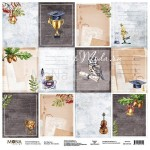 "Лист односторонний Карточки ""Учат в школе"", 305х305мм 190гр/м, Mona Design, BU002014"