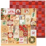 Бумага двусторонняя Календарь, размер 30,5х30,5 см, 180 г/м, Арт Узор, BU002036