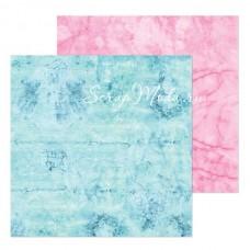 Бумага двусторонняя Розовый Мрамор, размер 20х20см, 180 г/м, Арт Узор, BU002037