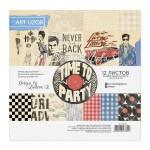Набор бумаги для скрапбукинга Time to party, 12 листов, 15,5 х 15,5 см, Арт Узор, BU002039