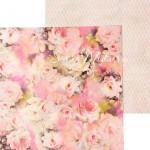 Бумага двусторонняя Розы, размер 30,5х30,5 см, 180 г/м, Арт Узор, BU002044