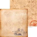 Бумага двусторонняя Письма с фронта, размер 30,5х30,5 см, 180 г/м, Арт Узор, BU002045