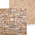 Бумага двусторонняя Галечный песок, размер 30,5х30,5 см, 180 г/м, Арт Узор, BU002048