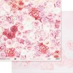 Бумага двусторонняя Одеяло из роз, размер 30,5х30,5 см, 180 г/м, Арт Узор, BU002052