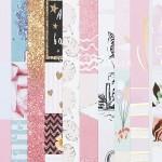 Набор бумаги односторонней с фольгированием Карточки, 10 листов, размер 30,5 х 30,5 см, 250 г/м, АртУзор, BU002072