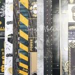 Набор бумаги односторонней с фольгированием Настоящий мужчина, 9 листов+1 ацетатный лист, размер 30,5 х 30,5 см, 250 г/м, АртУзор, BU002074