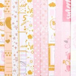 Набор бумаги односторонней с фольгированием Моя доченька, 8 листов+1 ацетатный лист + 1 лист калька, размер 30,5 х 30,5 см, 250 г/м, АртУзор, BU002075