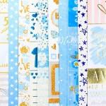 Набор бумаги односторонней с фольгированием Мой сыночек, 8 листов+1 ацетатный лист + 1 лист калька, размер 30,5 х 30,5 см, 250 г/м, АртУзор, BU002076
