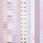Набор бумаги односторонней с фольгированием Розовые сны, 10 листов, размер 30,5 х 30,5 см, 250 г/м, АртУзор, BU002078