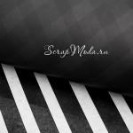 Бумага тишью Крафт, двусторонняя, Стильный чёрный,  черная/черные полоски, матовая, размер 50х70см, BU002094