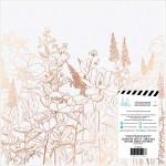 Лист веллума Honey&Spice, 30х30 мм, розовое золото на кальке с фольгированием, Heidi Swapp, BU002096