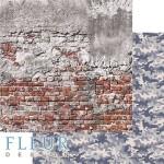 Лист бумаги двусторонний Милитари, коллекция Храбрые сердца, 30,5х30,5 см, плотность 190 гр, Fleur design. BU002104