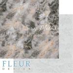Лист бумаги двусторонний Мрамор, коллекция Мистер Грей, 30,5х30,5 см, плотность 190 гр, Fleur design. BU002105