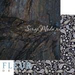 Лист бумаги двусторонний Дерево, коллекция Мистер Грей, 30,5х30,5 см, плотность 190 гр, Fleur design. BU002106