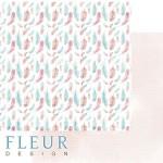 Лист бумаги двусторонний Легкий ветер, коллекция Дыхание весны,  30,5х30,5 см, плотность 190 гр, Fleur design. BU002111