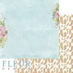 Лист бумаги двусторонний Шпалера, коллекция Дыхание весны,  30,5х30,5 см, плотность 190 гр, Fleur design. BU002114