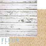 Лист бумаги двусторонний Старое дерево, коллекция Дыхание весны,  30,5х30,5 см, плотность 190 гр, FD1007807, Fleur design. BU002116