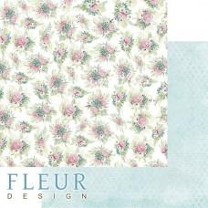 Лист бумаги двусторонний Пионовый букет, коллекция Дыхание весны,  30,5х30,5 см, плотность 190 гр, Fleur design. BU002117