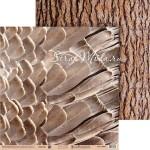 Бумага двусторонняя Перья и дерево, размер 30,5х32 см, 180 г/м, Арт Узор, BU002131