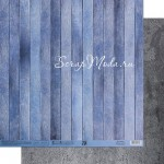 Бумага двусторонняя Голубые доски, размер 30,5х32 см, 180 г/м, Арт Узор, BU002141