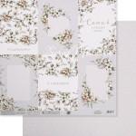 Бумага двусторонняя Свадебные открытки, размер 30,5х32 см, 180 г/м, Арт Узор, BU002145