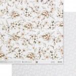 Бумага двусторонняя Нежные свадебные цветы, размер 30,5х32 см, 180 г/м, Арт Узор, BU002146