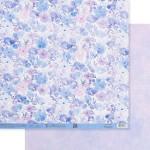 Бумага двусторонняя Сиреневый букет, размер 30,5х32 см, 180 г/м, Арт Узор, BU002147