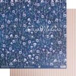 Бумага двусторонняя Анемоны, размер 30,5х32 см, 180 г/м, Арт Узор, BU002148