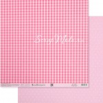 Бумага двусторонняя Розовый горох, размер 30,5х32 см, 180 г/м, Арт Узор, BU002157