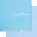 Бумага двусторонняя Голубой горох, размер 30,5х32 см, 180 г/м, Арт Узор, BU002158